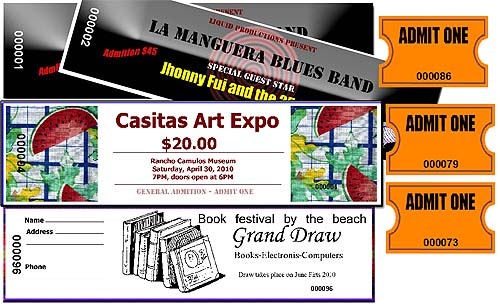 Loteria Workshop Ticket Maker samples